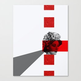 red eyes grey triangle Canvas Print
