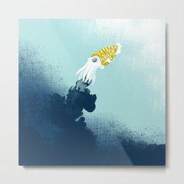 Intelligent Inker - Cranky Cuttlefish Metal Print