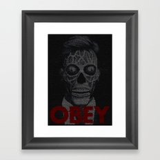 They Live. Obey. Screenplay Print. Framed Art Print