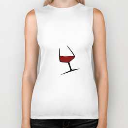 Pouring A Glass Of Wine Biker Tank