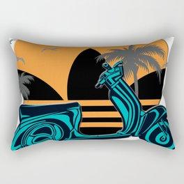 Pop Art Scooter Sunset Rectangular Pillow