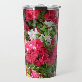 Pink & white Rhododendrons Travel Mug