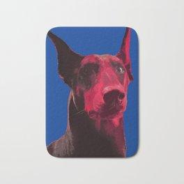 Majestic Doberman. Pop art dog. Bath Mat