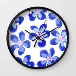 Posey Power - Ink Blue Multi Wall Clock