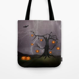SCARY HALLOWEEN TREE Tote Bag