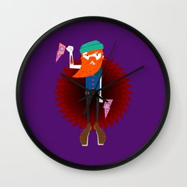 Hipster Beard Daddy Wall Clock