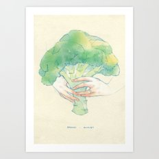 Broccoli bouquet Art Print