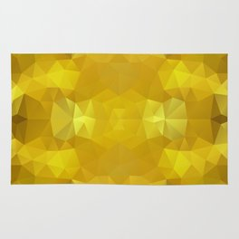 Triangles design in warm yellow colors Rug