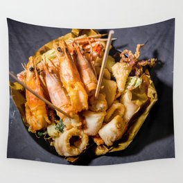 Fried fish Wall Tapestry