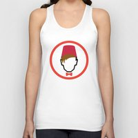 fez Tank Tops featuring Man With Fez by Evan Ayres