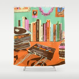 RECORDS N TAPES Shower Curtain