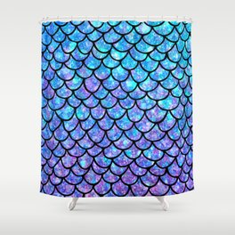 Purples & Blues Mermaid scales Shower Curtain