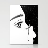 contact Stationery Cards featuring Contact by Henn Kim
