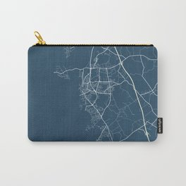 Varberg Blueprint Street Map, Varberg Colour Map Prints Carry-All Pouch