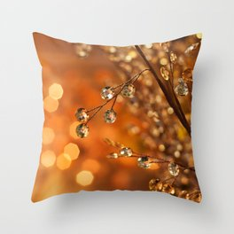Sparkles in Gold Throw Pillow