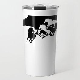 North Carolina Colonial Spanish Horse Lover Black Travel Mug