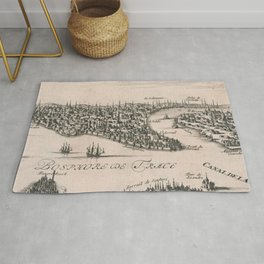 Vintage Pictorial Map of Constantinople (1696) Rug
