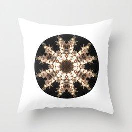 Photo Mandala - Snowflake Throw Pillow
