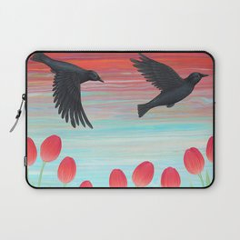 crows, tulips, & snails Laptop Sleeve