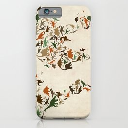 Dinosaur Map of the World Map iPhone Case