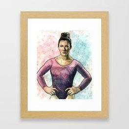 Aly Raisman Framed Art Print