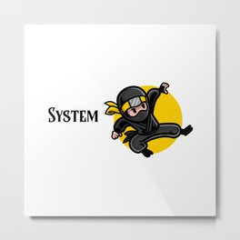 Efficient System Engineer Metal Print