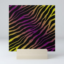 Ripped SpaceTime Stripes - Yellow/Purple Mini Art Print