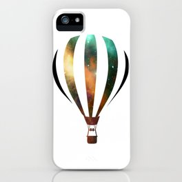 Space Hot air baloon iPhone Case