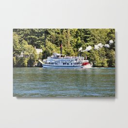 Minne-Ha-Ha Steamboat on Lake George Metal Print