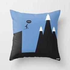 WTF? Ski Throw Pillow