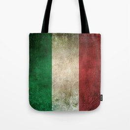 Old and Worn Distressed Vintage Flag of Italy Tote Bag