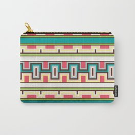 Tribal Aztec Style Block Pattern Carry-All Pouch