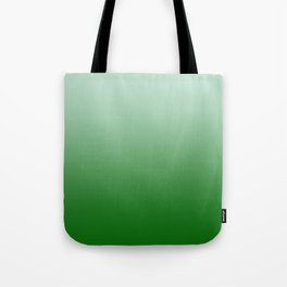 Pastel Green to Green Horizontal Linear Gradient Tote Bag