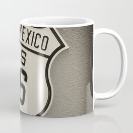 Historic Route 66 sing in New Mexico, Usa. Coffee Mug