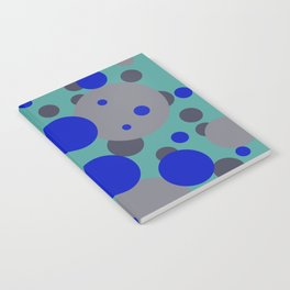 bubbles blue grey turquoise design Notebook