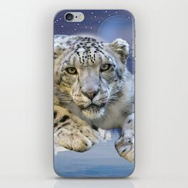 Snow Leopard and Moon iPhone Skin