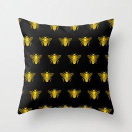 Bee design Throw Pillow