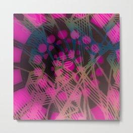 Wheel Doodle Pink Metal Print
