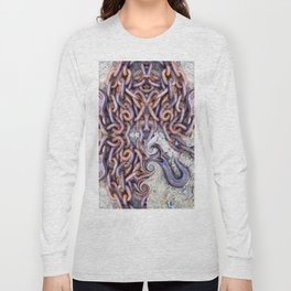 Chained hearts abstract photography Long Sleeve T-shirt