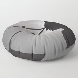 The Prisoner is Being Tested Floor Pillow