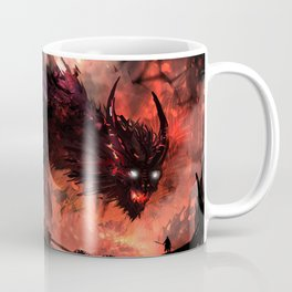 Magnificent Valiant Knight Dueling Giant Fearsome Angry Fantasy Dragon Ultra HD  Coffee Mug