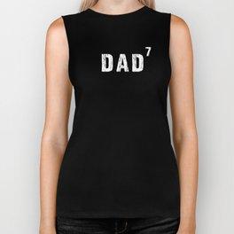 Funny Mens Dad Of Seven 7 Power T-tshirt Gift Pregnancy Gift Biker Tank