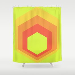 Homage to the Hexagon Shower Curtain