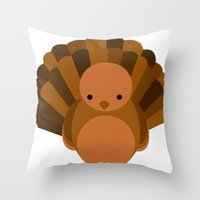 turkey Throw Pillows featuring Turkey by StephyLe