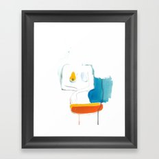 Orange + Blue Framed Art Print