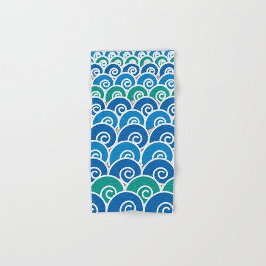 Blue Beach Waves Hand & Bath Towel