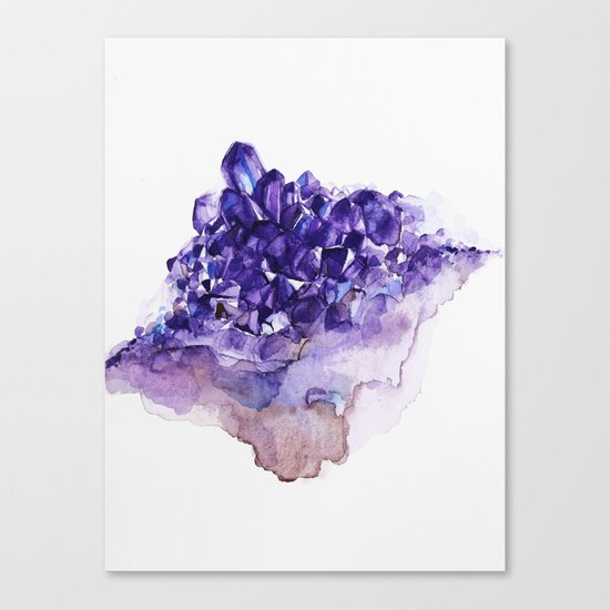 Amethyst Watercolor Canvas Print
