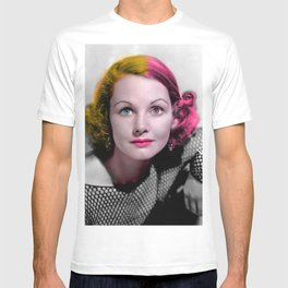 Pop Art Retro Actress Portrait T-shirt