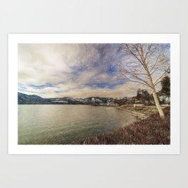 Lake Chelan morning Art Print