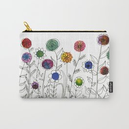 Illustrative Wildflowers Carry-All Pouch